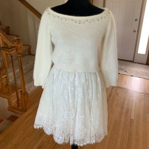 2/$300 White Sherri Hill Skirt and Angora Top Duo